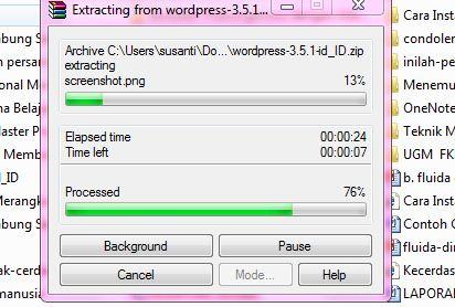 extrak file wordpressnya