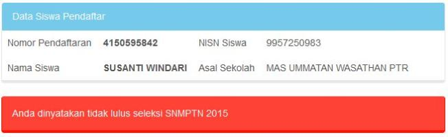 hasil SNMPTN